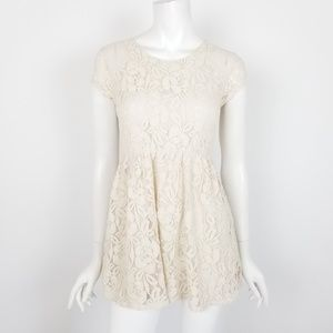 Coincidence & Chance Floral Lace Mini Dress XS